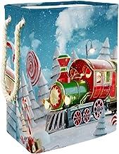 Clothes Hamper Amazing Fairy Santa's Christmas Train Large Storage Bin Storage Basket Clothes Laundry Hamper Toy Storage Bin