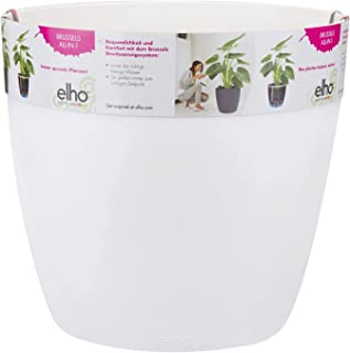 Elho Brussels All-In-One Maceta Redonda, Blanco, 25,1x25,1x23,1 cm