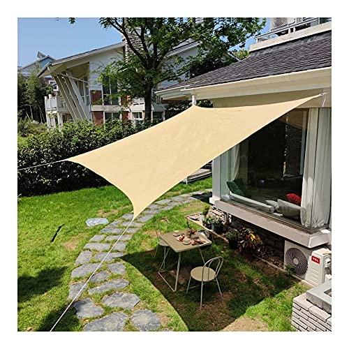 MAHFEI Sichtschutznetz, Mit Ösen Pergola Schattenabdeckung Antialterung Sunblock Shade Cloth UV-beständig Pflanzen Baldachin Balkon Sichtschutz (Color : Beige, Size : 4x10m)