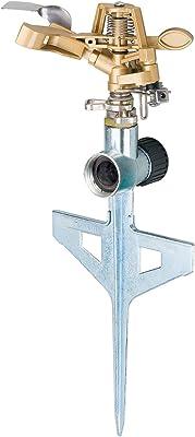 Melnor 9536CH 9536H Pulsating Sprinkler, Metal Head & Base/Step Spike