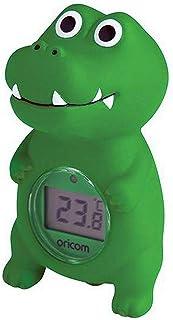 Oricom Digital Bath and Room Thermometer, Crocodile, Green