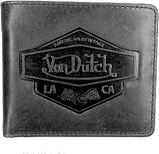 Portafoglio da uomo Von Dutch in pelle nera Diwan