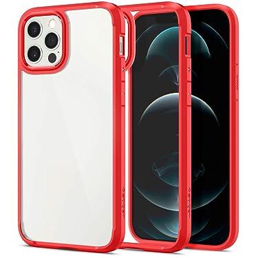 Spigen Ultra Hybrid Back Cover Case Designed for iPhone 12   iPhone 12 Pro - Red
