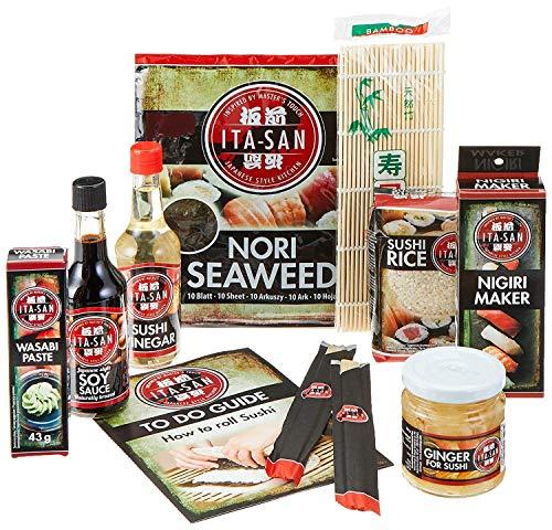 Seba Garden ITASAN Sushi Maker Kit - 9-teiliges komplettes Sushi-Set, ideal zum Ausprobieren oder als Geschenk - Multi Language To Do Guide