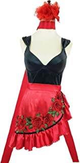 CHENJUNAMZ El Widow Maker Evelynn Cosplay Traje Vestido Taogo Carnaval de Heater Anime Ropa Equipos Cos (Color : Rojo, Siz...