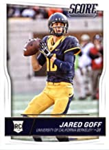 Jared Goff 2016 Score Mint Rookie Card #332 Picturing this Los Angeles Rams Star in His Blue University of California Berkeley Jersey