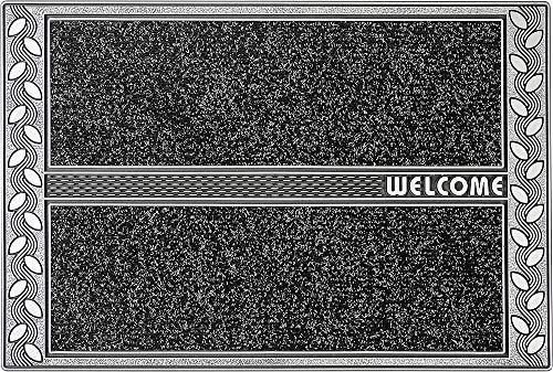 CarFashion PUR|SkylineClean – Fussmatte, Fußabtreter, Schmutzfangmatte, Eingangsmatte für Innen und Aussen in Anthrazit metallic, Größe ca. 75 x 50 cm