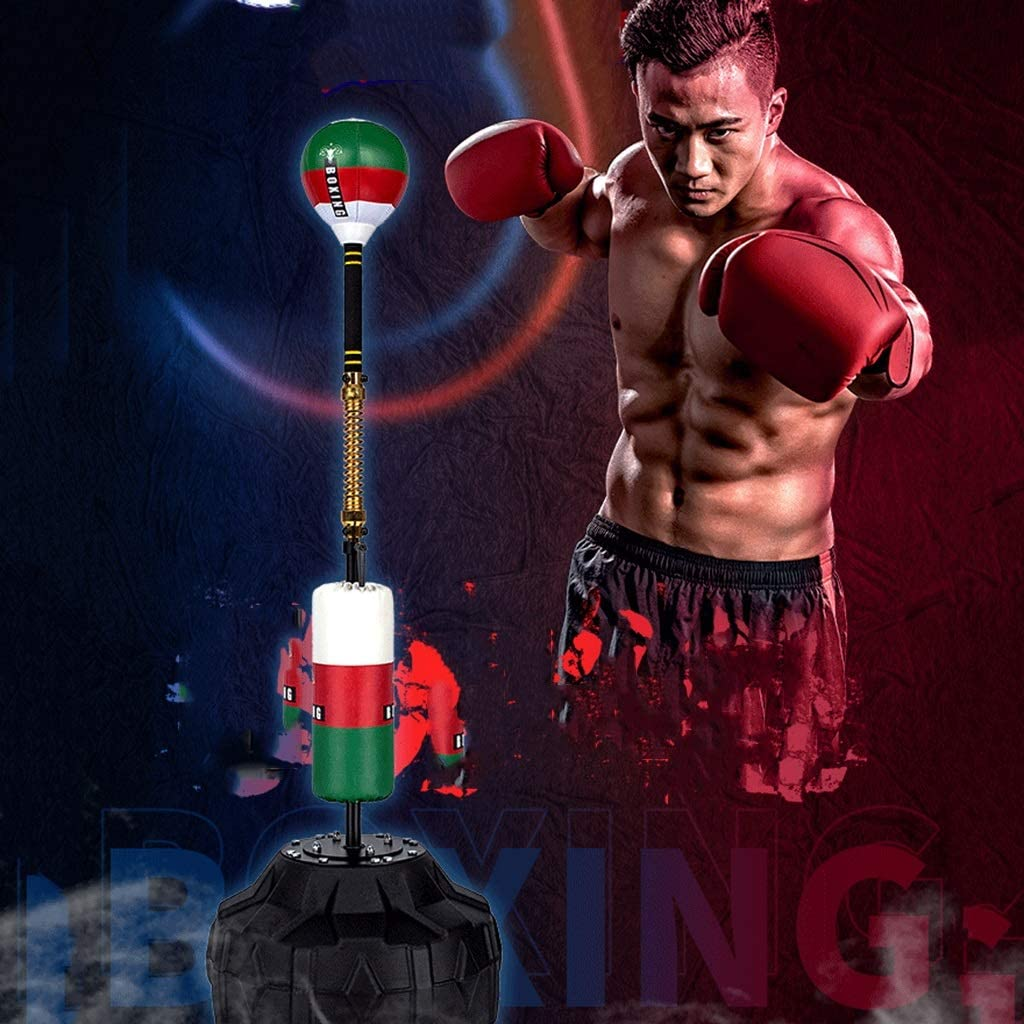 Color : Black A , Size : 50 * 50 * 180cm Boxing Speed Bags Reflex Ball Cobra Bag Bag Punch Bag Stand Height Adjustable From 145-180 Cm For Teenagers /& Adults /& Kids