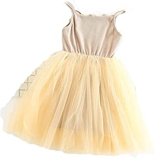 New Baby Girls Sling Ball Dresses Knit Cotton Mesh Vest Ballet Dress Summer Girl Party Vestidos 2-9Years