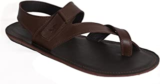 MARDI GRAS Pure Leather Mens Casual Sandal in TPR Sole