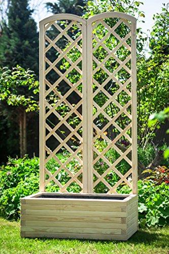 Larisa Blumen Kasten mit Rankgitter 175cm (80x40)
