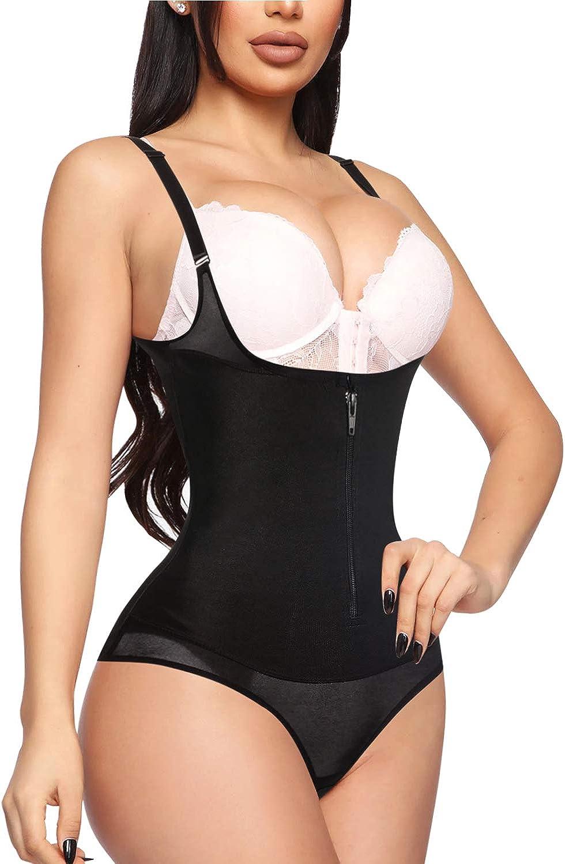 YERKOAD Women Shapewear Bodysuit Latex Waist Trainer Full Body Shaper Tummy Control Fajas Colombianas Zipper Open Bust Corset