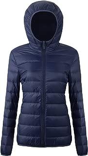 Women's Packable Down Jacket Ultra Light Weight Short Puffer Coat with Travel Bag