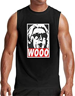 Wooo-Wrestling Nature Boy RIC Flair Men's Sleeveless T Shirt Top Fashion Personality Summer Casual Slim Blouse
