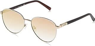 Guess Women's GU3041 GU3041 21F Round Sunglasses, Gold, 53 mm
