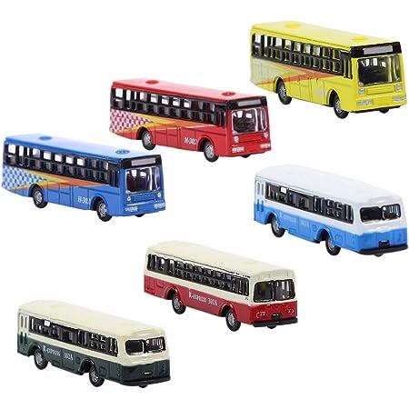 バスコレクション バス模型 ミニバス 車模型 1:150 6本入り 路線バス模型 建物模型 ジオラマ 情景コレクション 教育 DIY