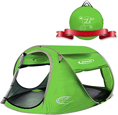 ZOMAKE Pop Up Tent 3 4 Person, Beach Tent Sun