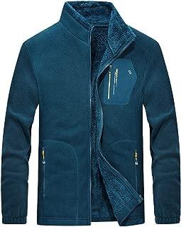Forthery-Men Fleece Heavy Sweatshirt Zip Up Hoodie Jackets for Men