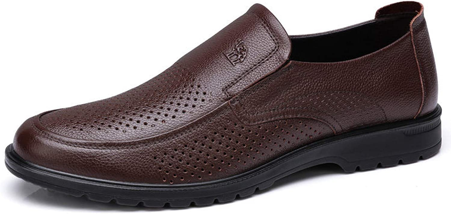 I'm good at you Fashion Breathable Men shoes Soft Genuine Leather Loafers Man Business Flats shoes