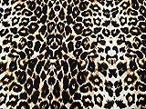 Tela de punto de licra con textura de cascada de leopardo, por metro