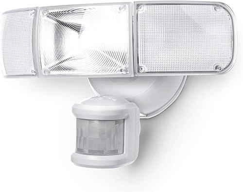 discount Home Zone Security Motion Sensor Light - Ultra sale Bright wholesale 3 Head Outdoor Weatherproof LED Flood Light outlet online sale