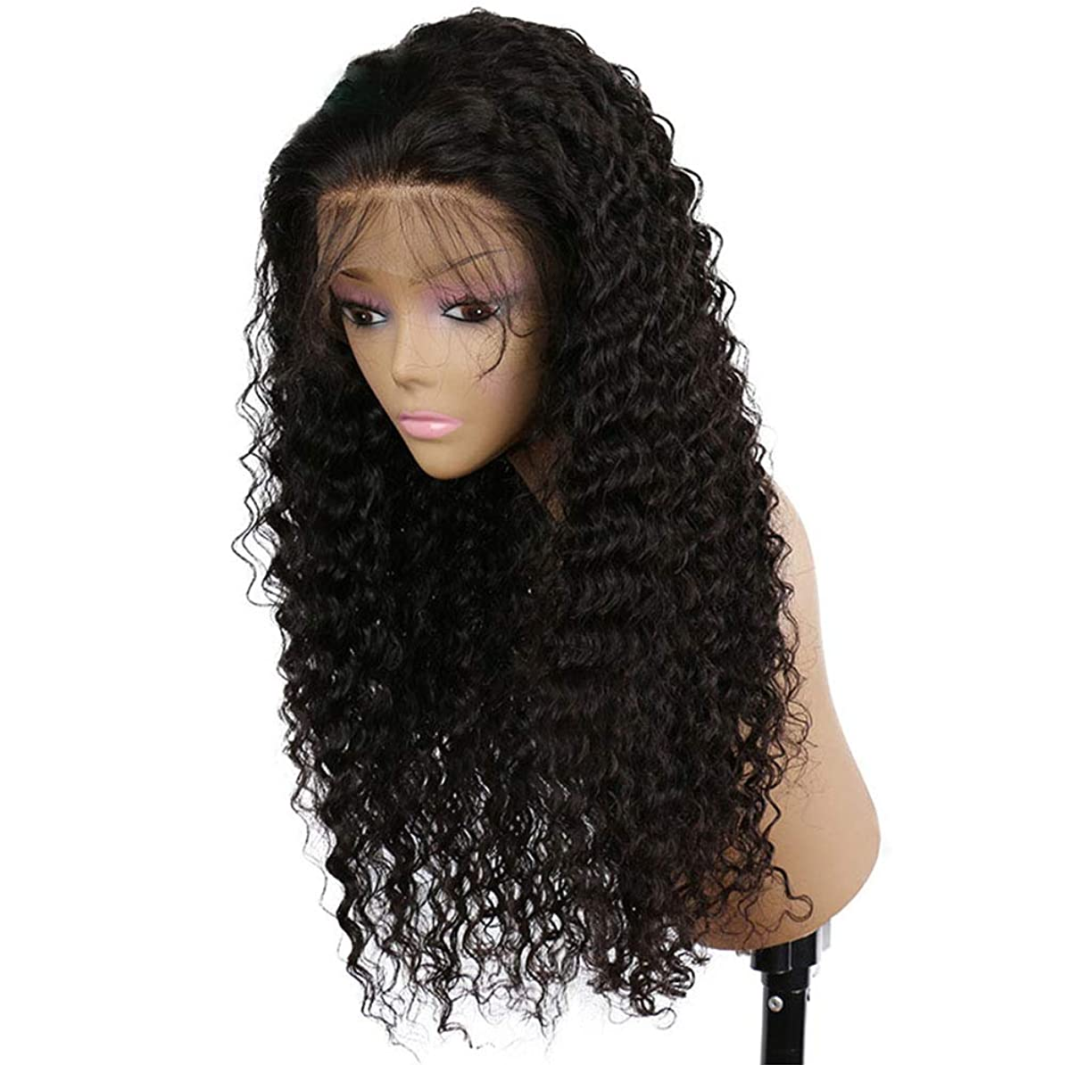 カスタムで反映する女性150%密度フロントレースかつら耐熱毛のかつらのかつら