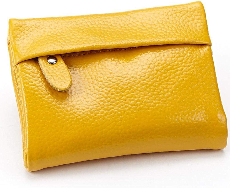 Girls Purse Women's Wallet Ms Short BiLeather Wallet Leather Purse