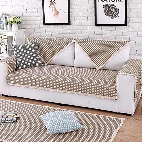 YSODFQL Cuatro estaciones de algodón y lino antideslizante funda de cojín para sofá toalla cojín para ventana impermeable/A/Los 70 * 150cm