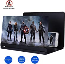 2019 Phone Screen Magnifier, 3D Smart Phone Screen Enlarger HD Movie Amplifier Foldable Cell Phone Holder Stand for iPhone Samsung Galaxy S7 and All other Mobile Phones