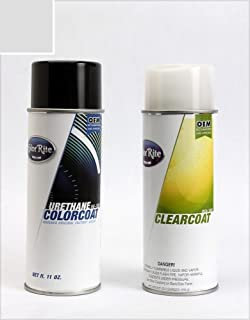 ColorRite Aerosol Automotive Touch-up Paint for Volvo C30 - Cosmic White 481 - Color+Clearcoat Package