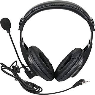 Retevis Walkie Talkie Auricular Boom Mic Auriculares Aéreos de 2 Pines con Micrófono de Auriculares VOX PTT para Baofeng U...
