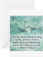 CafePress DANCE LIKE NO ONE IS WATCHING Greeting Cards Greeting Card, Note Card, Birthday Card, Blank Inside Matte