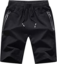 JJLIKER Mens Knitted Sport Cotton Casual Shorts Bodybuilding Gym Running Workout Half-Pants Active Training Shorts