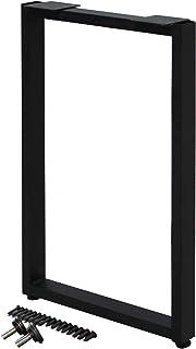 サンニード テーブル 脚 パーツ レッグスクエア SLG-1BK 1個 単品販売 奥行43 高さ67cm アイアン ブラック 黒