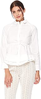 2Xtremz Front Tie Up Collared Pleated Top for Women