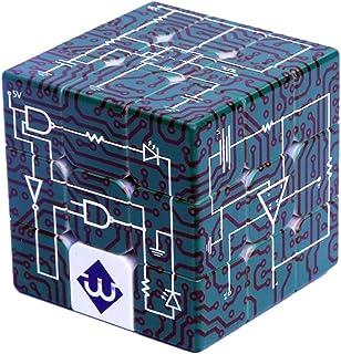 Hastighet pusselkub, 3 x 3 magisk kub, lätt att vrida och smidigt spel, 3D magisk kub snurrande pussel stor hjärna retar s...