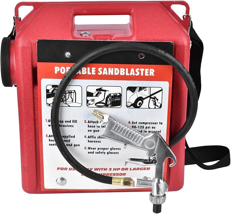 Sandblaster -Portable 30LBS Pneumatic Barrel Gun Industry No. 1 Super intense SALE Kit