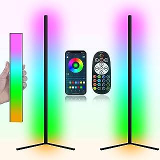 چراغ طبقه RGB Corner RGB ، اندازه بزرگتر به روز شده ، کنترل برنامه هوشمند ، چراغ طبقه تغییر رنگ 40W LED از راه دور ، چراغ طبقه RGB برای اتاق خواب ، اتاق نشیمن (دو بسته)