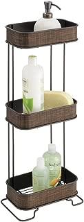 InterDesign Twillo Bathroom 3-Tier Free Standing Shelves, Bronze