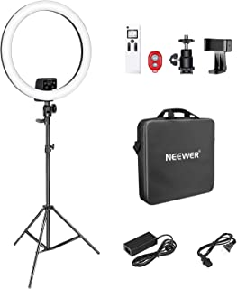 Neewer Advanced 18-inch LED Ring Light Support Manual Touch Control with LCD Screen, 2.4G Remote and Multiple Lights Contr...