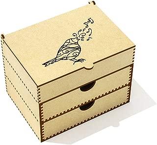 Azeeda  Patterned Songbird  Vanity Case Makeup Box  VC00020503