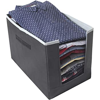 PrettyKrafts Shirt Stacker Closet Organizer - Shirts and Clothing Organizer - Exile - GreyBlack