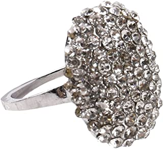 Fashion Rings ODGear Women Crystal Silver Cubic Zirconia Band Ring Diamond Gift, Lockets for Girls