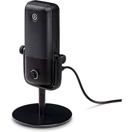 Elgato Wave:1 Microfono USB a Condensatore e Soluzione di Mixaggio Digitale, Tecnologia Anti-Clipping, Disattivazione Audio Tattile, Streaming e Podcasting