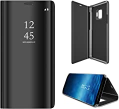 Anyos Galaxy S9 Case, Clear View Standing Mirror Flip PC Cover for Samsung Galaxy S9