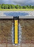 Tubo de drenaje de agua de lluvia, diámetro 110DN 100,Tubo de desagüe, drenaje para Jardín, rejilla para rebosadero