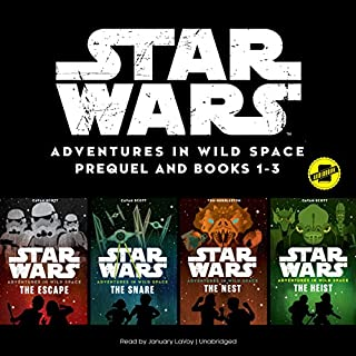 Star Wars: Adventures in Wild Space     The Star Wars Adventures in Wild Space Series, Books 1-3              Written by:                                                                                                                                 Disney Lucasfilm Press                               Narrated by:                                                                                                                                 January LaVoy                      Length: 6 hrs and 42 mins     1 rating     Overall 4.0