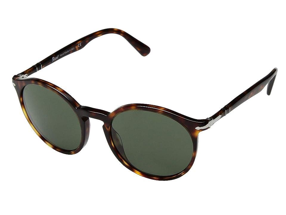 Persol 0PO3214S (Havana/Green) Fashion Sunglasses