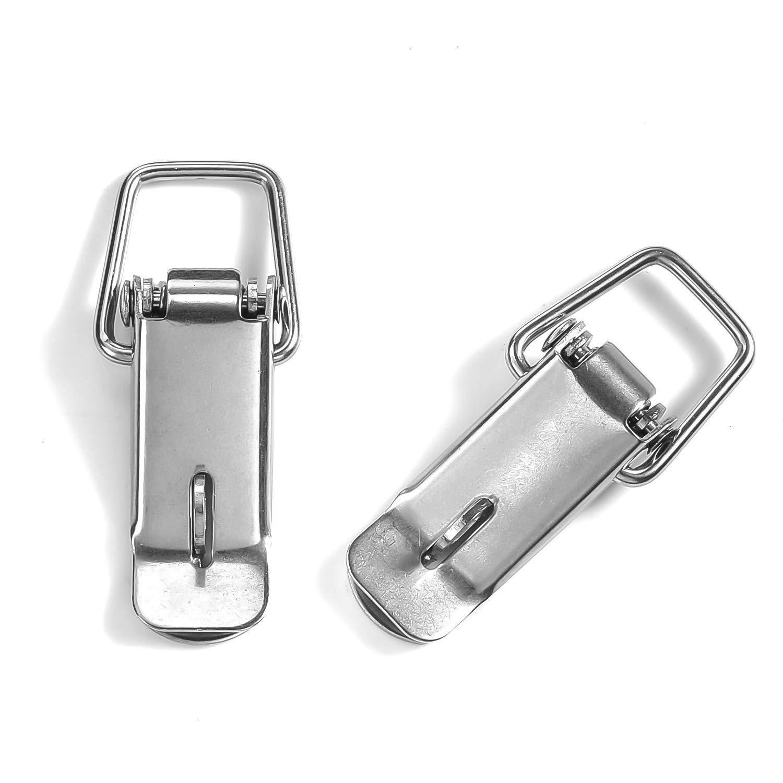 8 piezas Pequeño cerrojo de acero inoxidable Abrazadera de palanca ...