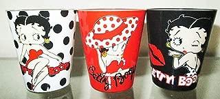 Betty Boop Shot Glass Set Of 3 Polka Dots